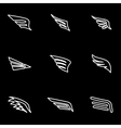 line wing icon set vector image