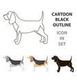 beagle icon in cartoon style for web vector image