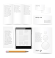 Classic white stationery template Documentation vector image