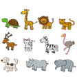 Collection of animals vector image