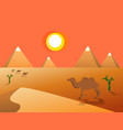 egyptian great pyramids vector image