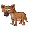 hyena on white background vector image