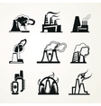 Industrial Factory Icons vector image