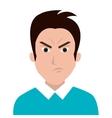 man character facial expression vector image
