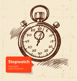 Vintage stopwatch vector image
