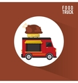 Colorful food truck design vector image