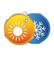 heat and cold symbol vector image vector image