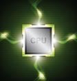green power processor vector image vector image
