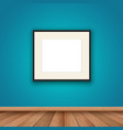 blank picture frame in room interior vector image
