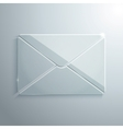Glass Icon of Envelope vector image