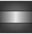 Metal Background With Metal Plate vector image