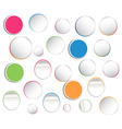 Set of multicolored tag labels vector image vector image