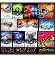 Stunnig Disco Club Flyers collecton vector image vector image