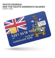 Credit card with South Georgia and Sandwich vector image