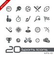 Sports Icons Basics vector image vector image