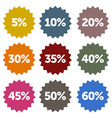 Discount Stars Set vector image vector image