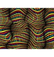Abstract Wave Zebra Pattern Background vector image
