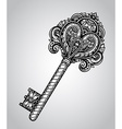 hand drawn antique ornate key vector image