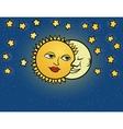moon sun vector image