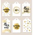 Set of summer glitter badges vector image