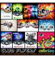 Stunnig Disco Club Flyers collecton vector image