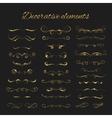 Dividers set gold ornate design Golden vector image