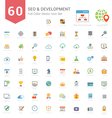 Set of Full Color SEO and Development icons vector image vector image