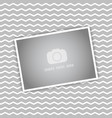 blank picture on chevron stripes background vector image vector image