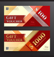 elegant gift voucher or gift card on colorful vector image