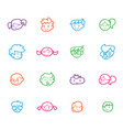 kids icon set happy children school elements vector image