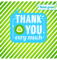 Ecological thank you card Gratitude for thinking vector image