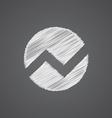 circle diagram sketch logo doodle icon vector image
