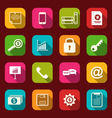 group simple flat icons of business and financial vector image