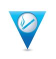 smoking BLUE triangular map pointer vector image