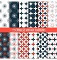 seamless vintage patterns set vector image