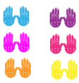 Colored grunge vintage hands vector image