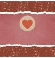 Vintage Valentine Heart card vector image vector image