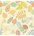 Vintage autumn seamless pattern vector image
