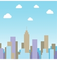Silhouette cityscape background vector image
