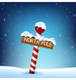 A Christmas of a north pole wooden si vector image