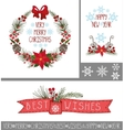 ChristmasNew year greeting cardsbannersdecor vector image
