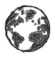 doodle earth vector image