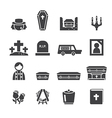 Funeral icons vector image