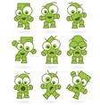 funny green cartoons vector image