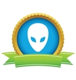 Gold extraterrestrial logo vector image