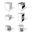 household appliances set vector image