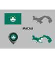 Map of Macau and symbol vector image