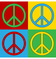 Peace symbol icons vector image