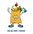 Shopping bag with healthy food vector image