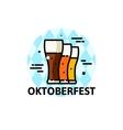 Thin line Oktoberfest vector image